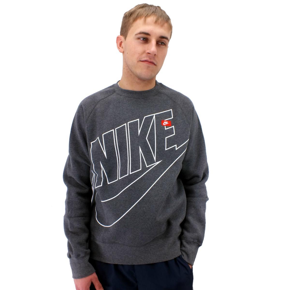 nike aw77 ace fleece crew logo herren pullover sweatshirt fleece diverse farben ebay. Black Bedroom Furniture Sets. Home Design Ideas