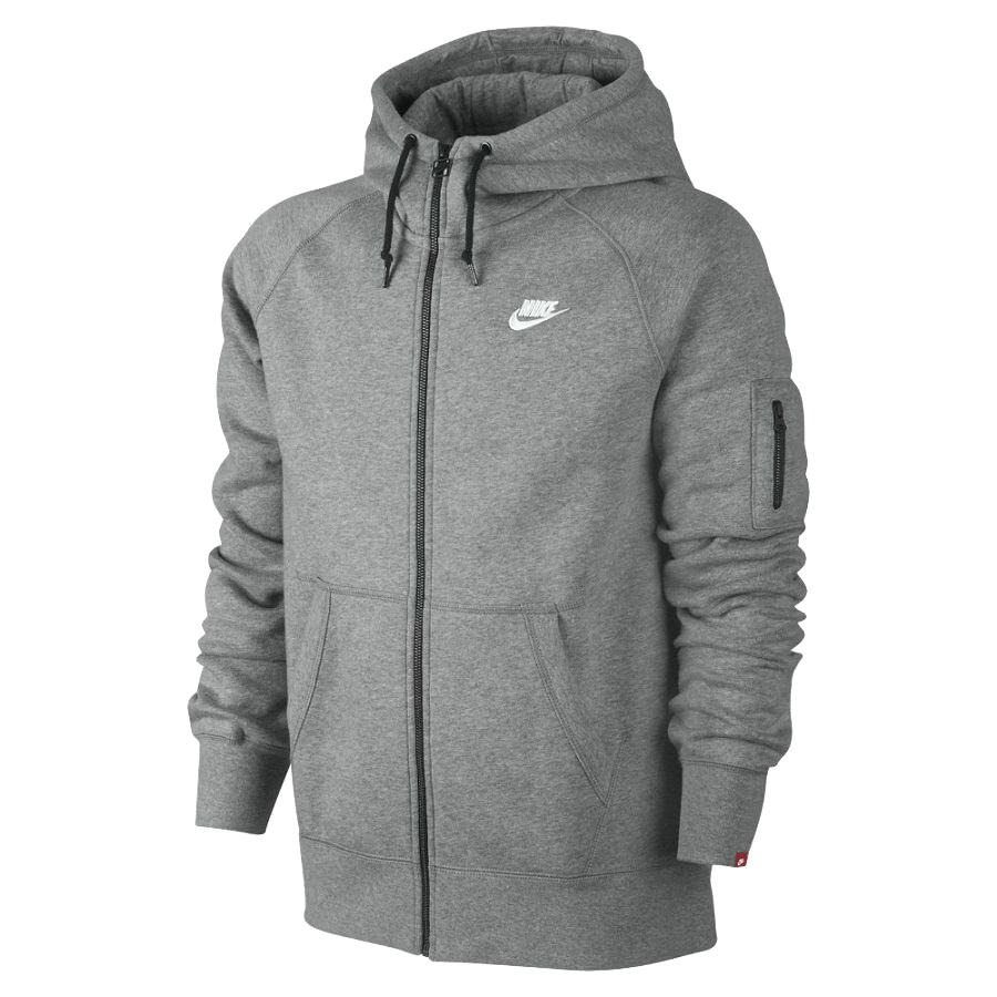 nike aw77 fleece full zip hoody herren sweater kapuzenpullover diverse farben ebay. Black Bedroom Furniture Sets. Home Design Ideas