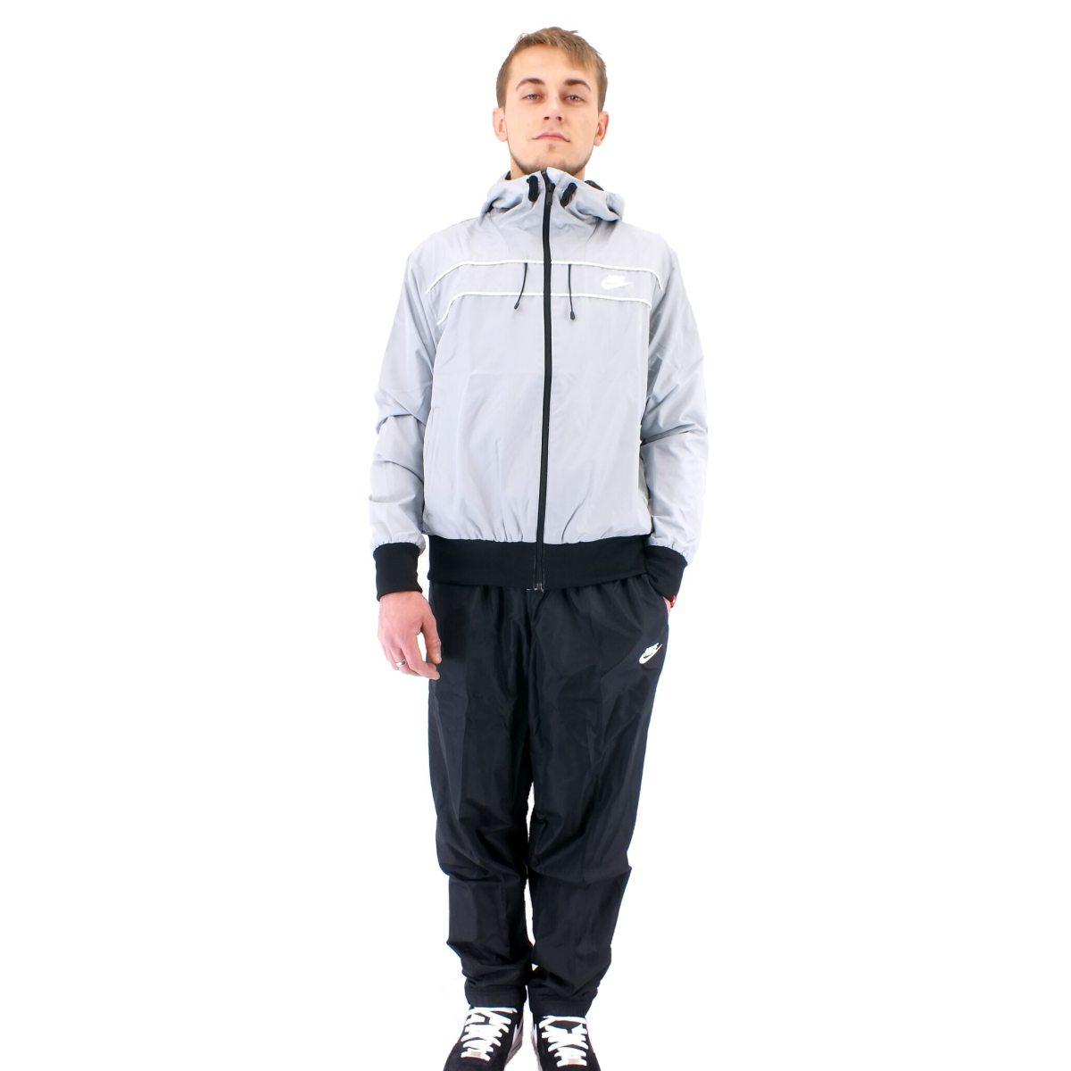 nike hooded warm up trainingsanzug fitness herren schwarz. Black Bedroom Furniture Sets. Home Design Ideas