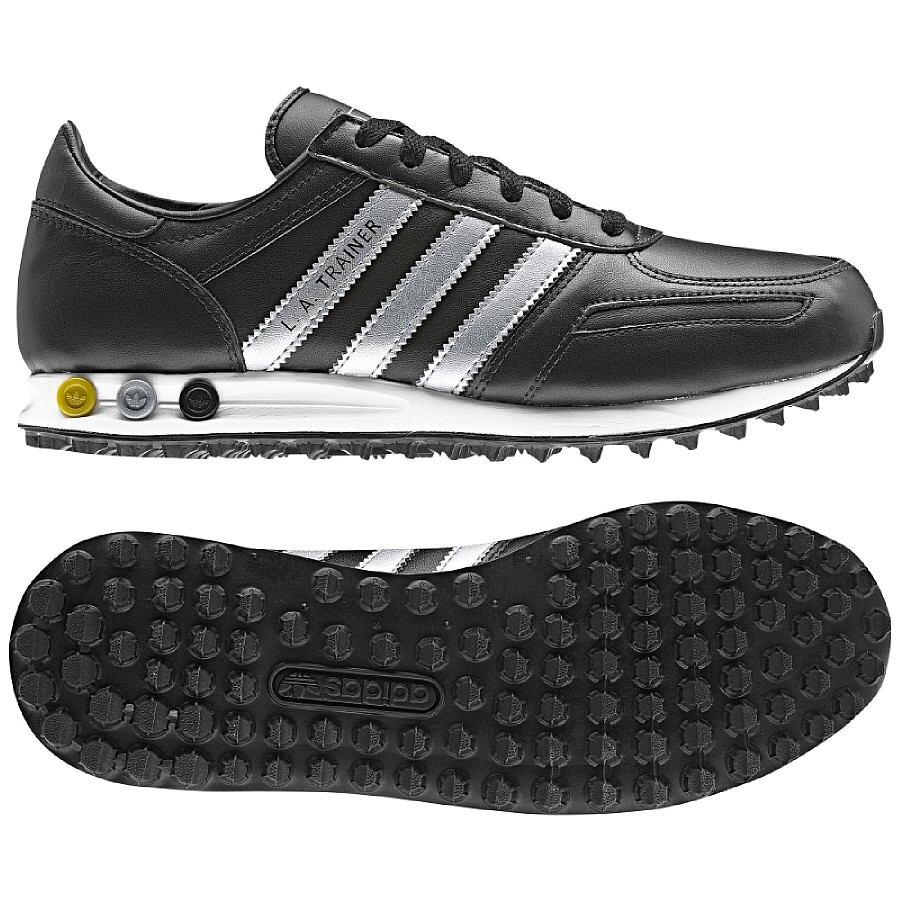 adidas la trainer herren schuhe 44 uk 9 5 schwarz l a. Black Bedroom Furniture Sets. Home Design Ideas
