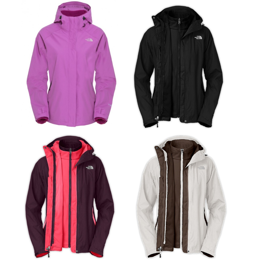 the north face evolve triclimate jacke 3 in 1 fleece. Black Bedroom Furniture Sets. Home Design Ideas