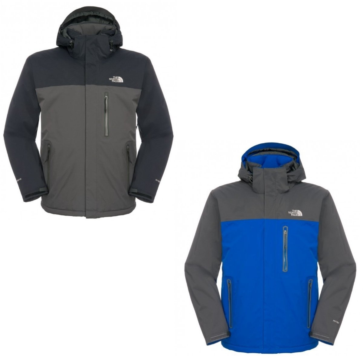 the north face plasma thermal jacket jacke shelljacke grau blau herren ebay. Black Bedroom Furniture Sets. Home Design Ideas