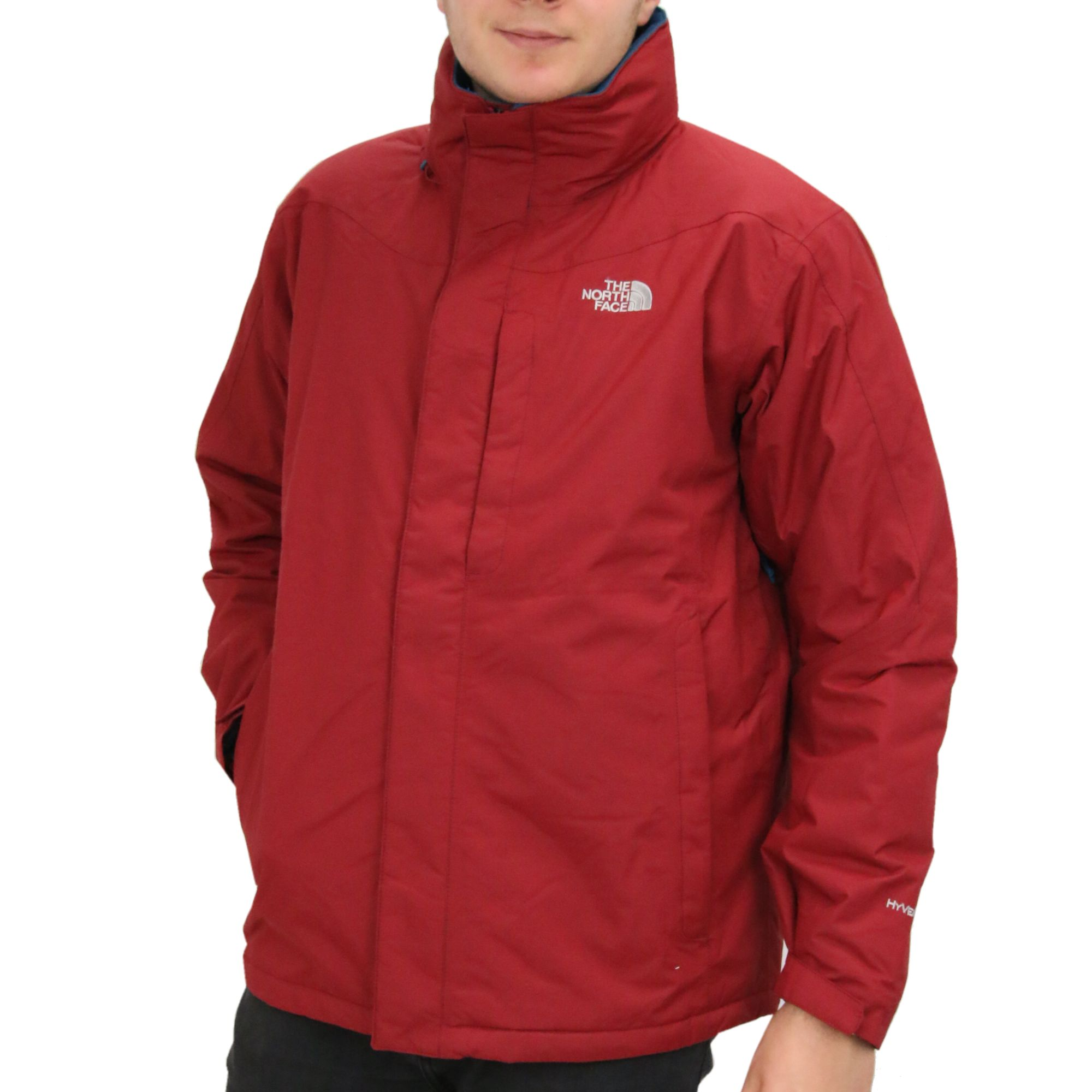 The-North-Face-Highland-Jacket-Jacke-Winterjacke-wasserdicht-Herren-Rot-Schwarz