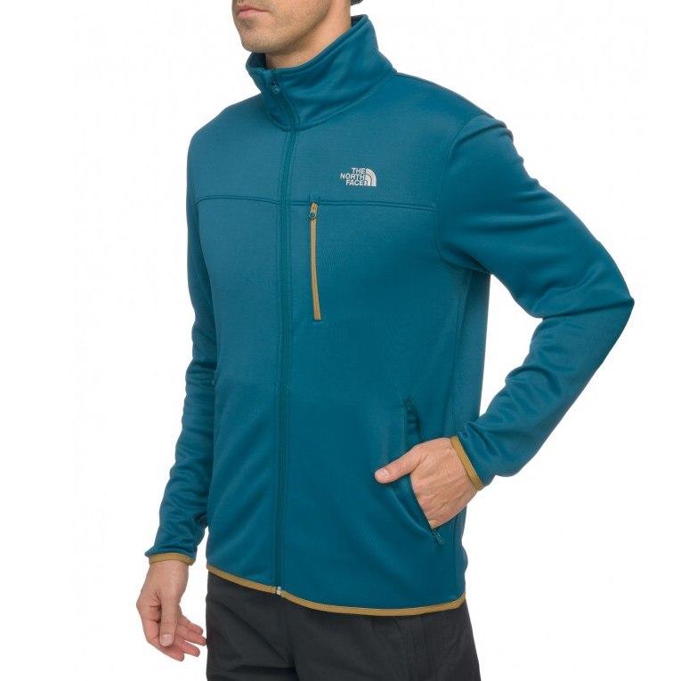 The-North-Face-Lixus-Stretch-Full-Zip-Hoodie-Jacke-Outdoor-Herren-Blau