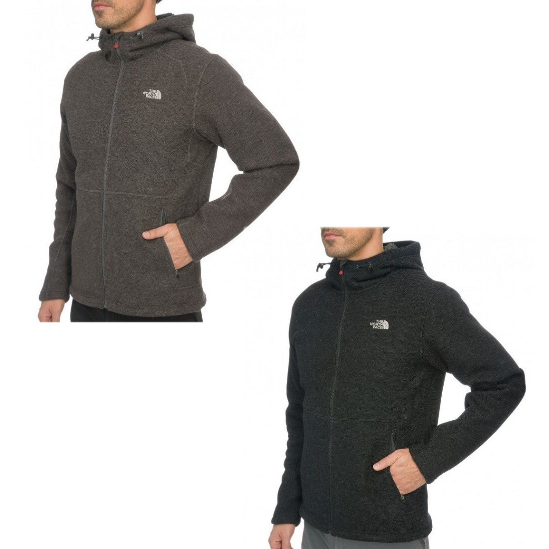The-North-Face-Zermatt-Full-Zip-Hoodie-Jacke-Fleecejacke-Kapuzenjacke-Herren