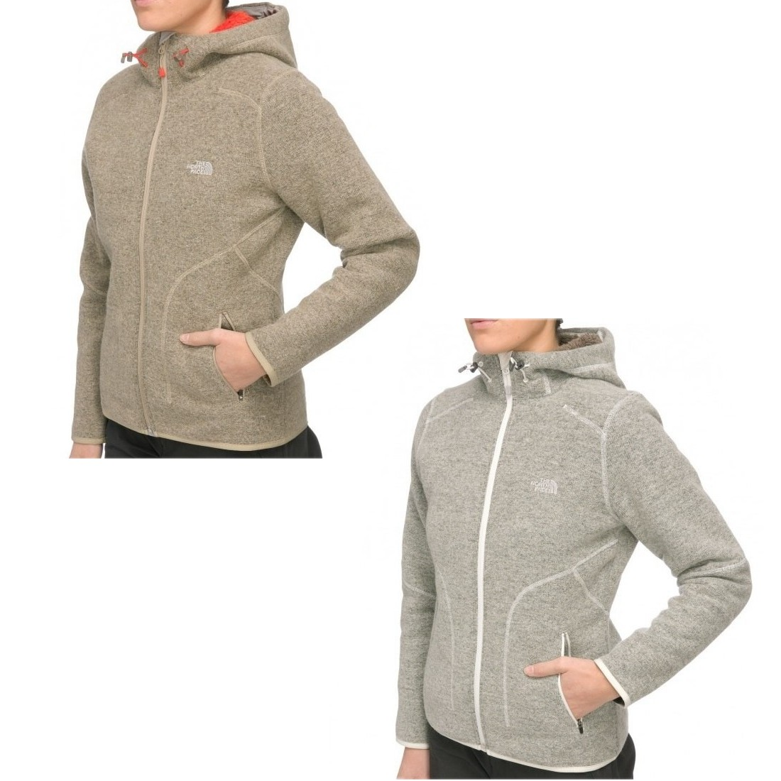 the north face zermatt full zip hoodie jacke kapuzenjacke damen grau beige ebay. Black Bedroom Furniture Sets. Home Design Ideas