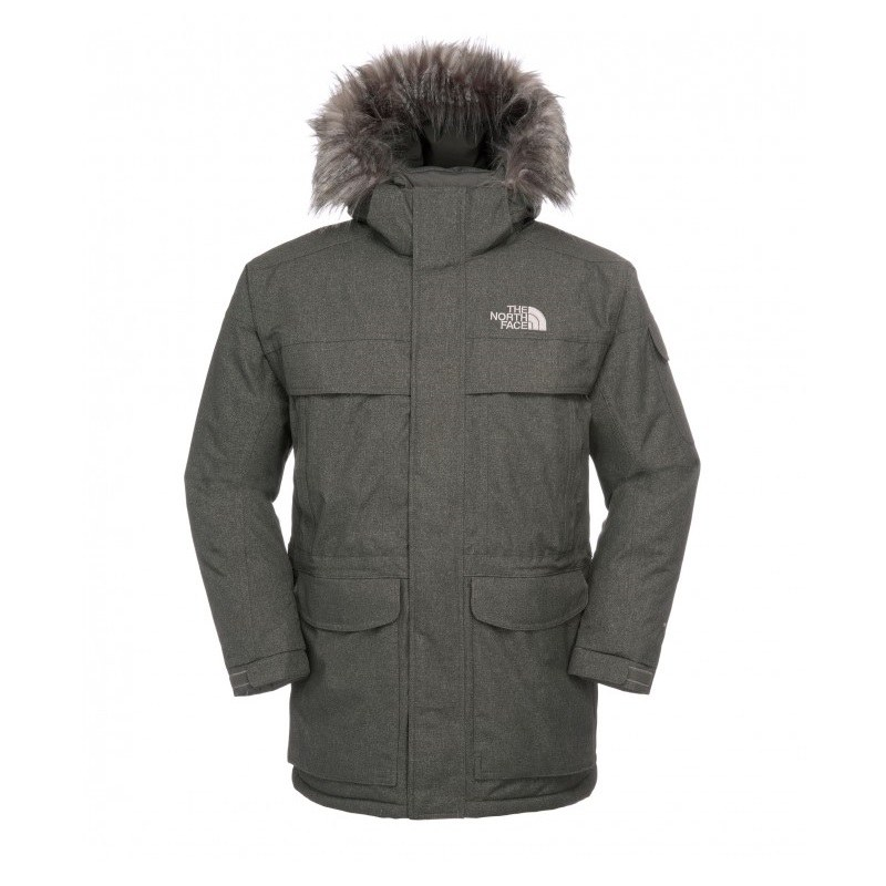 The-North-Face-McMurdo-Parka-Wintermantel-Winterjacke-Herren-Jacke-Daunen-grau