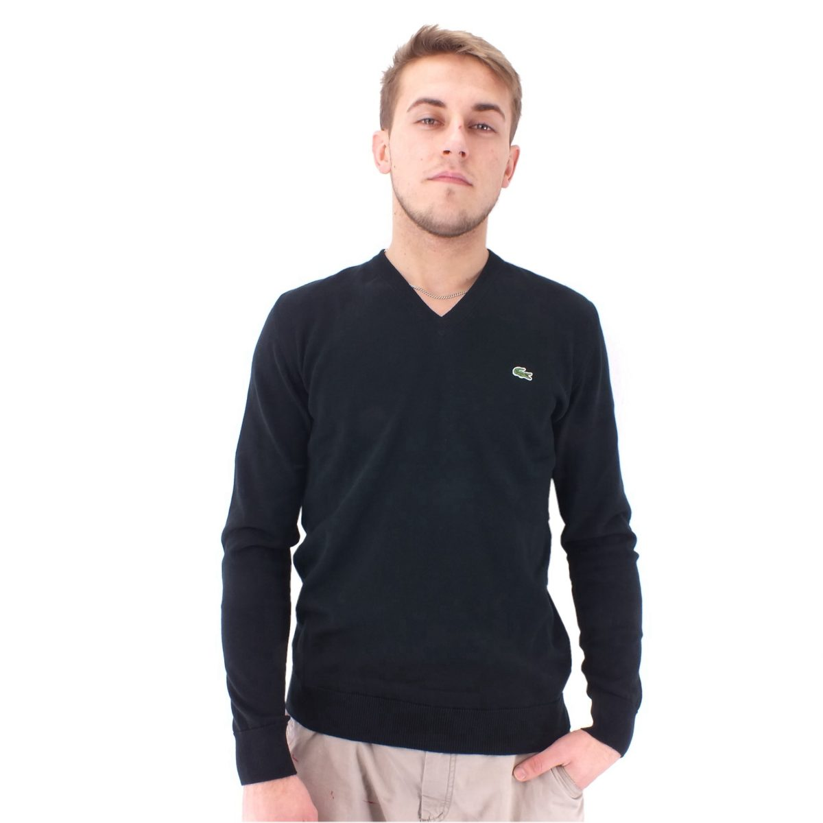 lacoste v neck sweater pullover sweatshirt herren. Black Bedroom Furniture Sets. Home Design Ideas