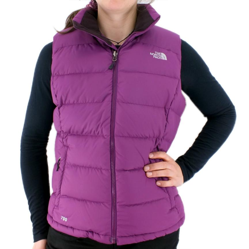 the north face nuptse 2 vest damen weste winter trekkking outdoor lila braun ebay. Black Bedroom Furniture Sets. Home Design Ideas