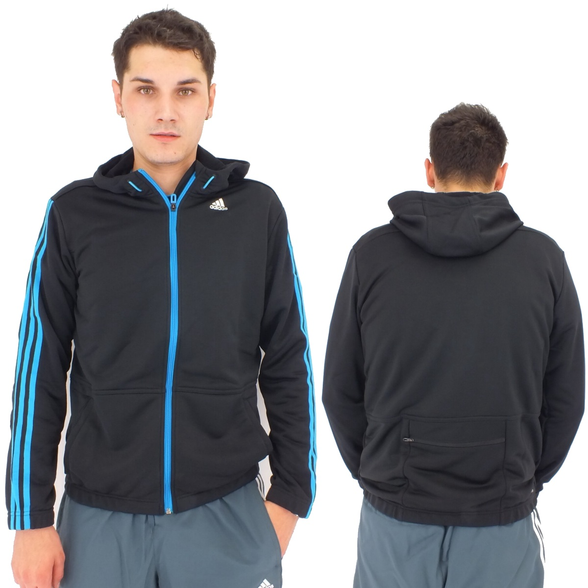 adidas clima365 fz hoodie herren jacke sportjacke. Black Bedroom Furniture Sets. Home Design Ideas