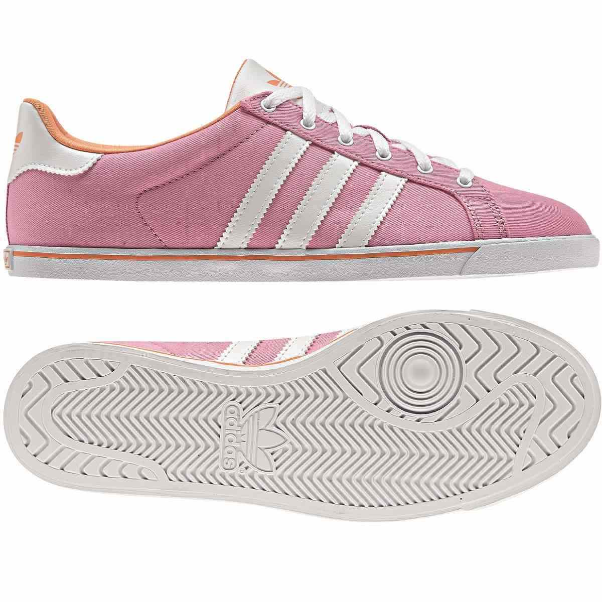 adidas originals court star slim damen schuhe turnschuhe sneaker wei rosa ebay. Black Bedroom Furniture Sets. Home Design Ideas