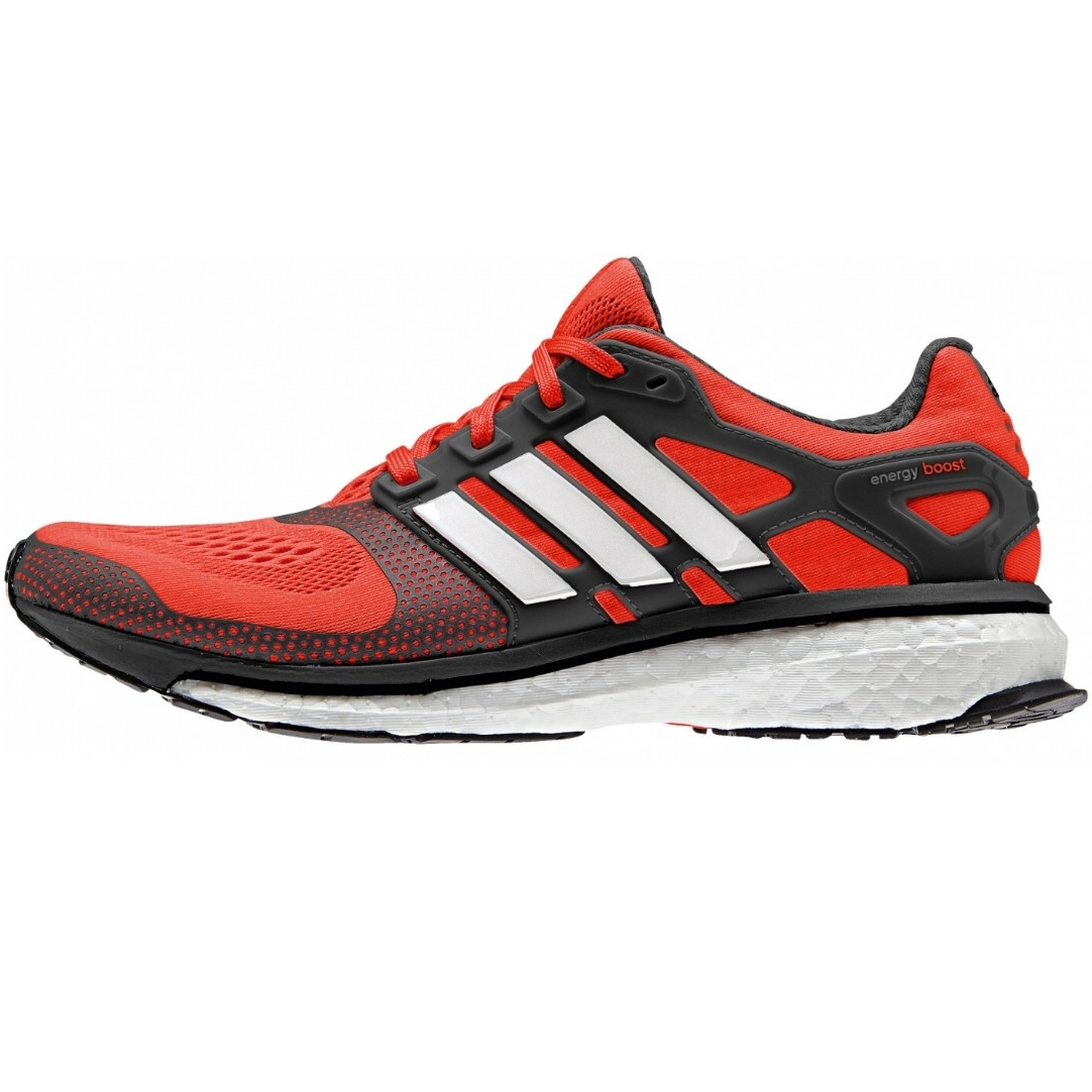 adidas energy boost 2 schuhe laufschuhe sportschuhe herren rot 41 42 ebay. Black Bedroom Furniture Sets. Home Design Ideas