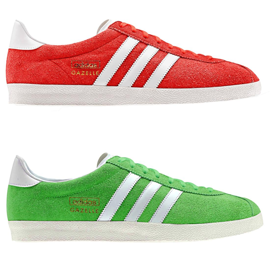 sneakers mens womens adidas originals gazelle og red green ebay. Black Bedroom Furniture Sets. Home Design Ideas