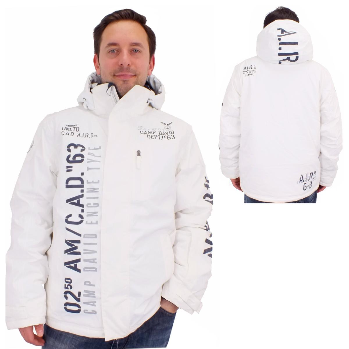 camp david british columbia flights ii jacket herren jacke winterjacke wei ebay. Black Bedroom Furniture Sets. Home Design Ideas