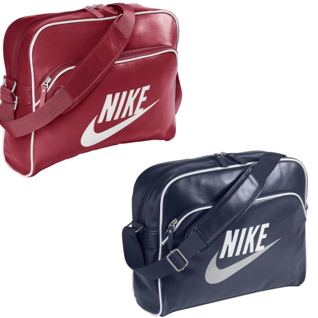 nike heritage si tasche umh ngetasche schultertasche damen herren blau rot ebay. Black Bedroom Furniture Sets. Home Design Ideas