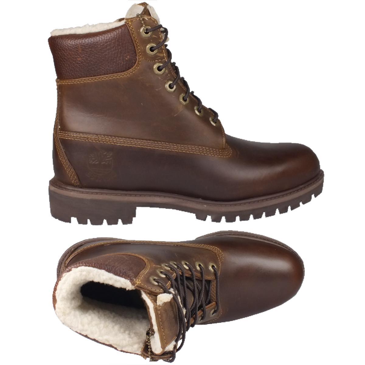 timberland 6 inch fleece boots herren schuhe stiefel winterstiefel gef ttert ebay. Black Bedroom Furniture Sets. Home Design Ideas