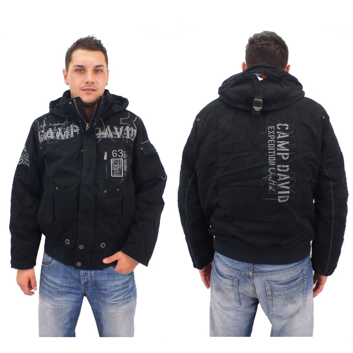 camp david patagonia jacket i cd jacke winterjacke herren schwarz. Black Bedroom Furniture Sets. Home Design Ideas