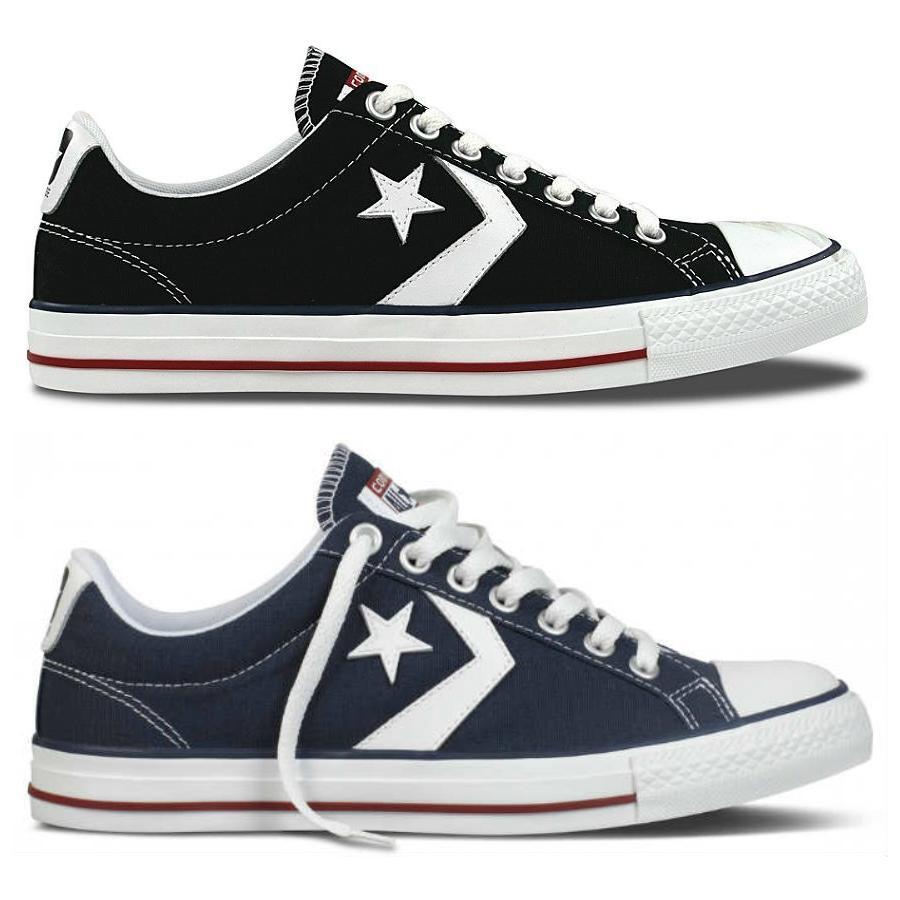converse all star player ev ox schwarz blau herren damen schuhe sneaker ebay. Black Bedroom Furniture Sets. Home Design Ideas