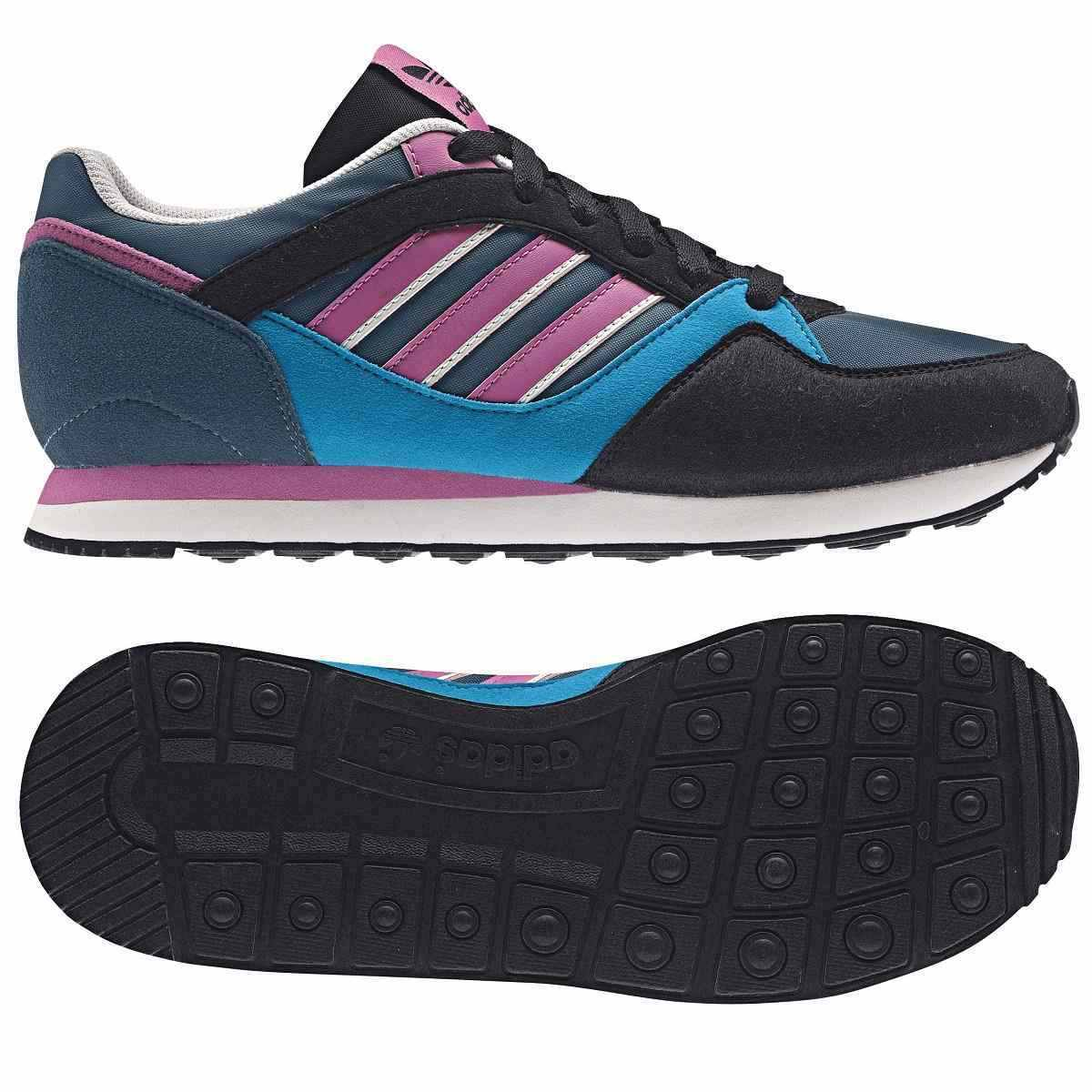adidas zx 100 schuhe turnschuhe sneaker damen wei schwarz. Black Bedroom Furniture Sets. Home Design Ideas