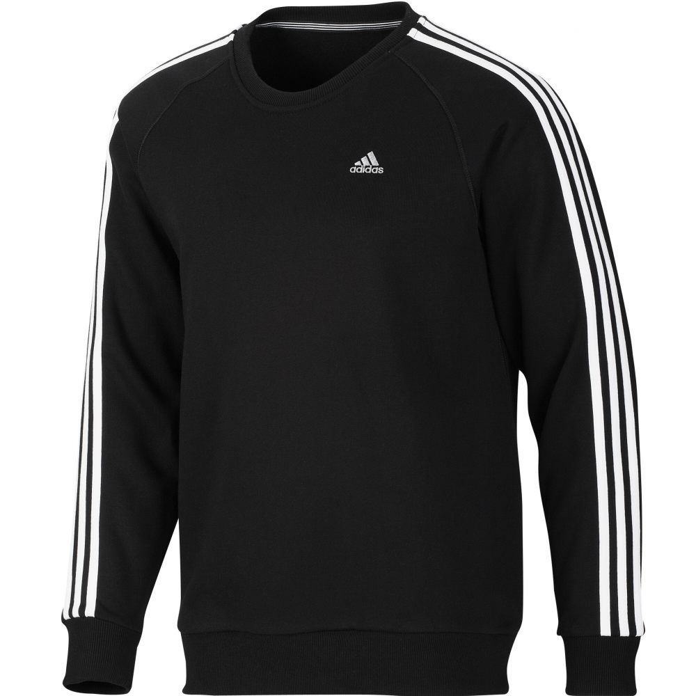 adidas ess 3s crew sweat pullover herren sweatshirt. Black Bedroom Furniture Sets. Home Design Ideas