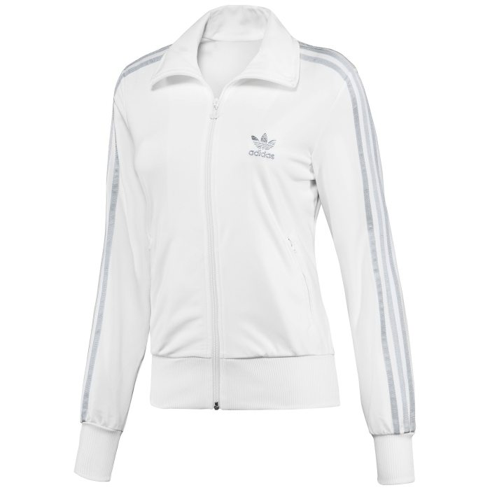 adidas originals firebird track top wei silber damen. Black Bedroom Furniture Sets. Home Design Ideas