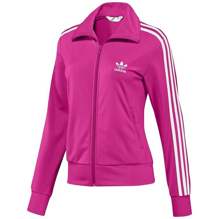 Adidas jacke firebird damen schwarz pink