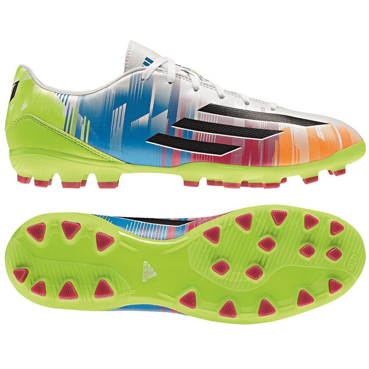 watch 43e79 0b083 Das Bild wird geladen Adidas-F10-TRX-AG-Schuhe-Fussballschuhe -Multinocken-Kunstrasen-