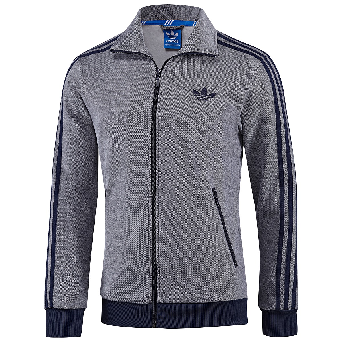 adidas originals firebird tt herren jacke trainingsjacke track top blau grau ebay. Black Bedroom Furniture Sets. Home Design Ideas