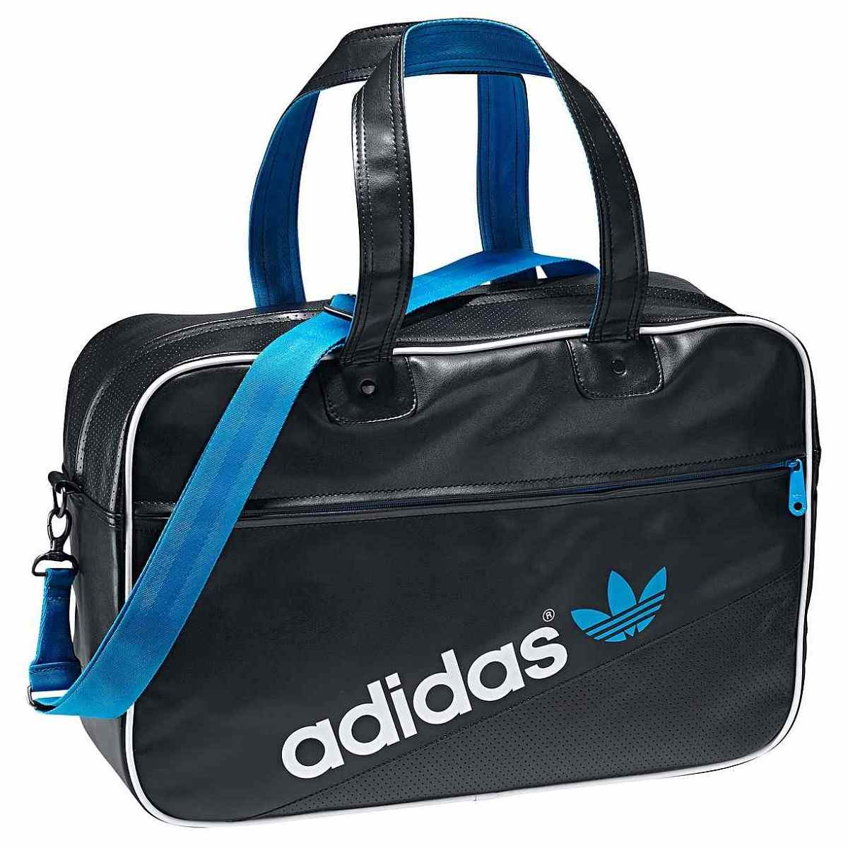 adidas adicolor holdall tasche schultertasche wei blau ebay. Black Bedroom Furniture Sets. Home Design Ideas