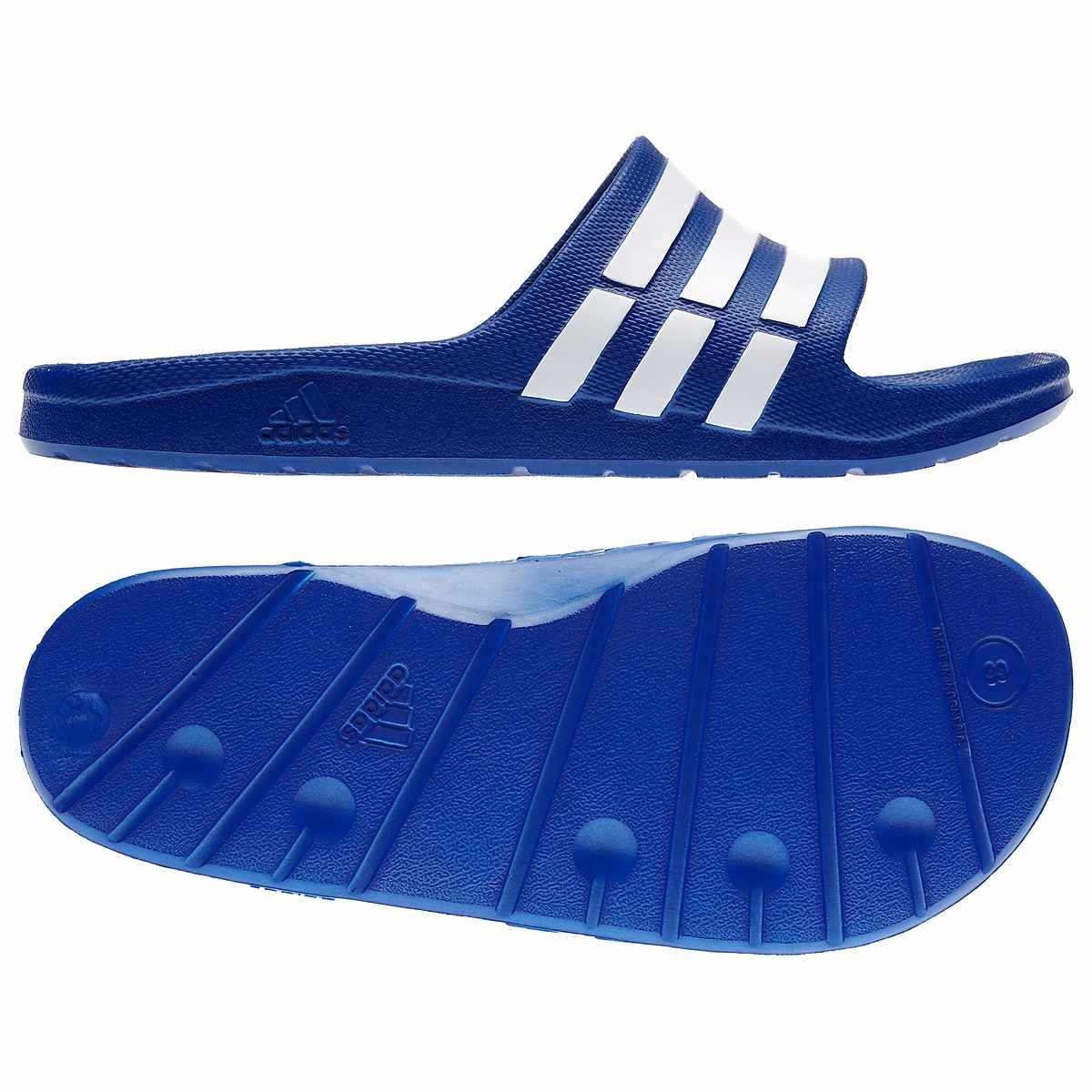 adidas duramo slipper schuhe badelatschen badeschuhe damen herren blau schwarz ebay. Black Bedroom Furniture Sets. Home Design Ideas