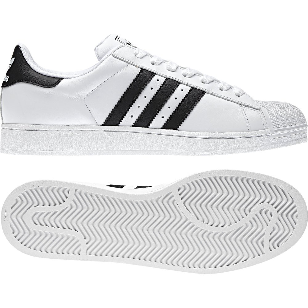 Adidas Superstar II White Black