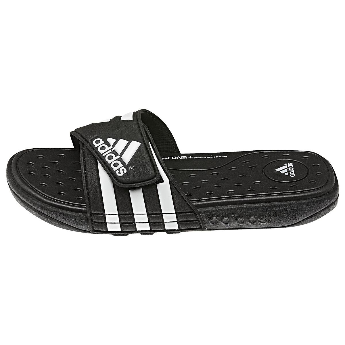 adidas adissage sc schuhe sandalen badelatschen badeschuhe herren schwarz ebay. Black Bedroom Furniture Sets. Home Design Ideas