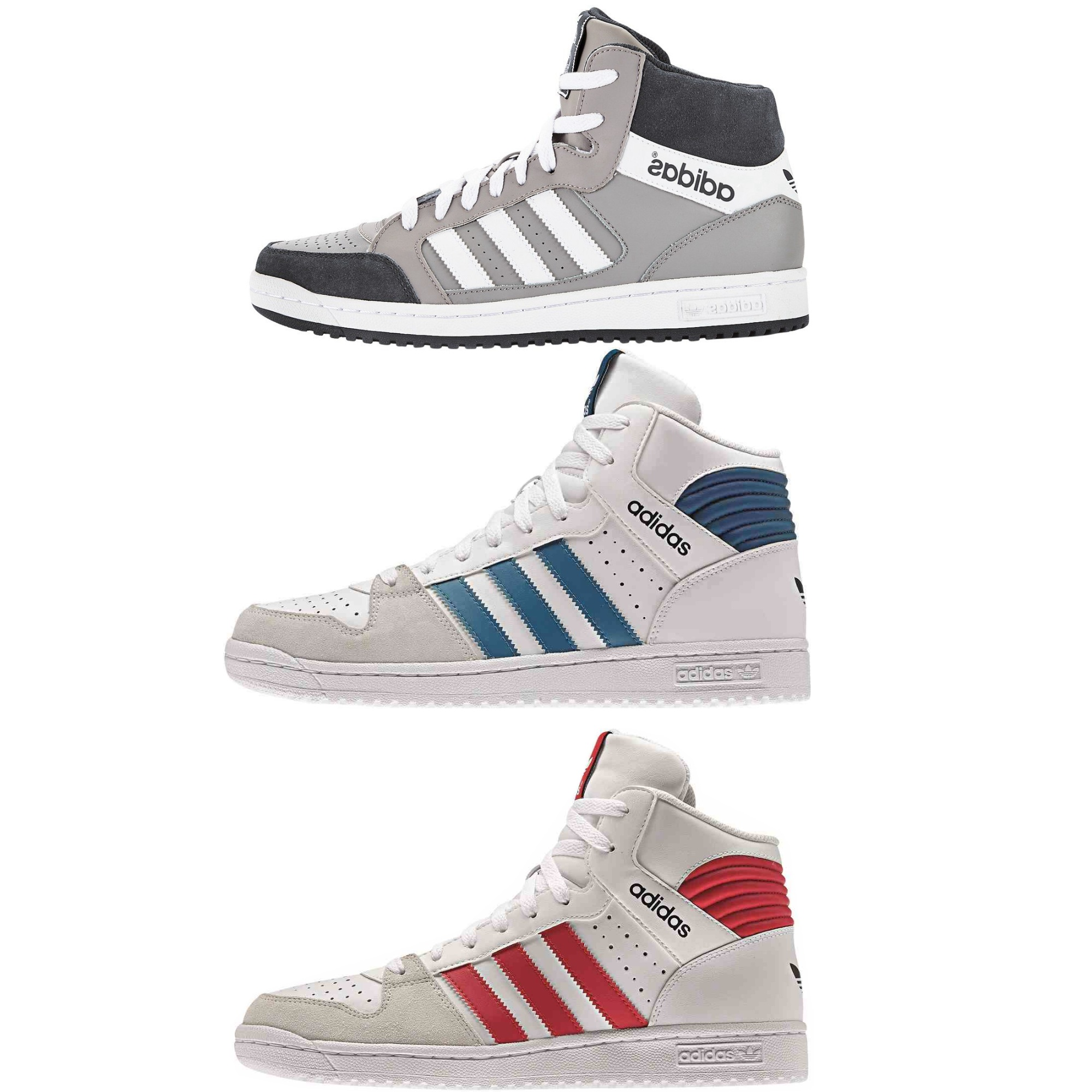 adidas originals pro play shoes sneakers high top sneaker mens real leather ebay. Black Bedroom Furniture Sets. Home Design Ideas