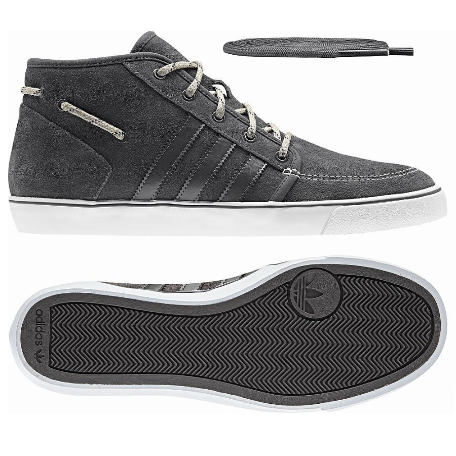 adidas originals court deck mid grau herren schuhe sneaker. Black Bedroom Furniture Sets. Home Design Ideas