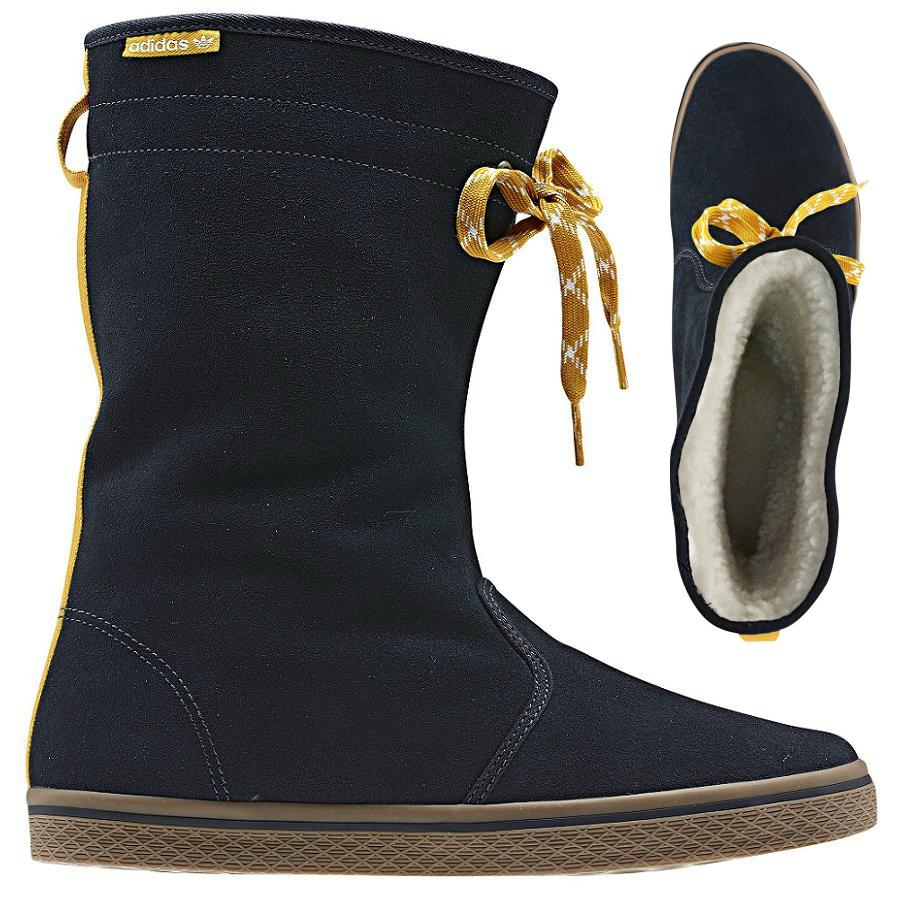 adidas originals honey boots navy blau winterstiefel damen stiefel ebay. Black Bedroom Furniture Sets. Home Design Ideas