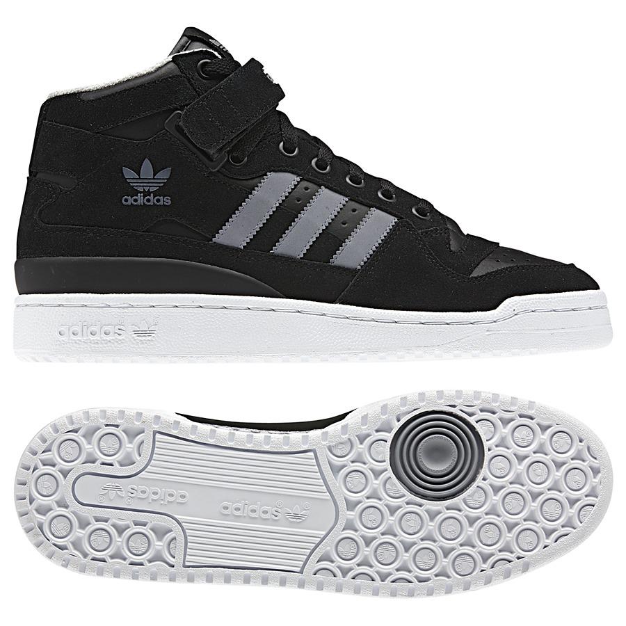 adidas originals forum mid schuhe sneaker high top herren wildleder schwarz blau ebay. Black Bedroom Furniture Sets. Home Design Ideas