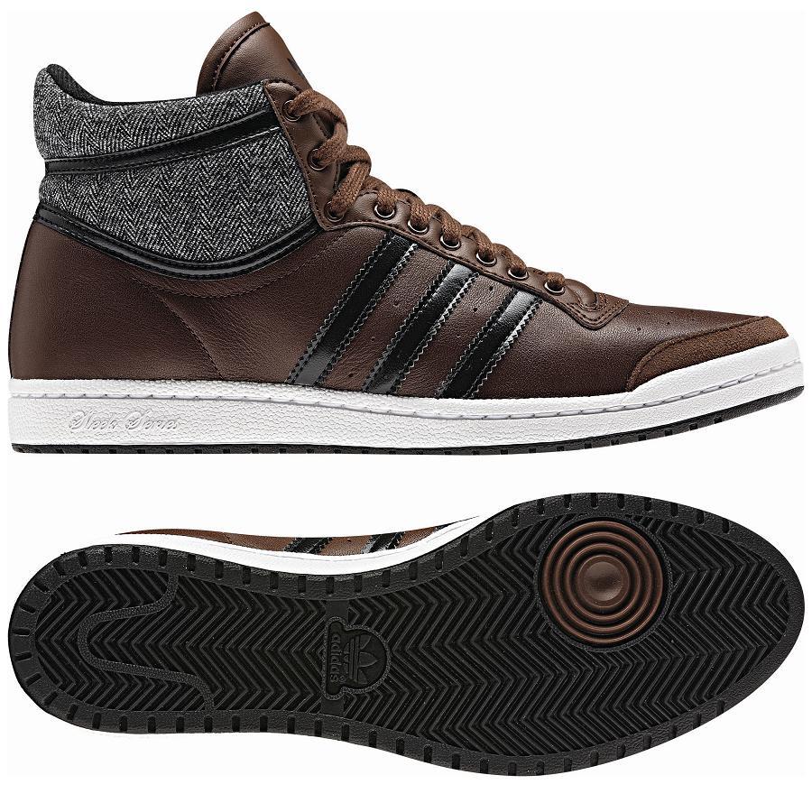 adidas originals top ten hi sleek series brown shoes. Black Bedroom Furniture Sets. Home Design Ideas