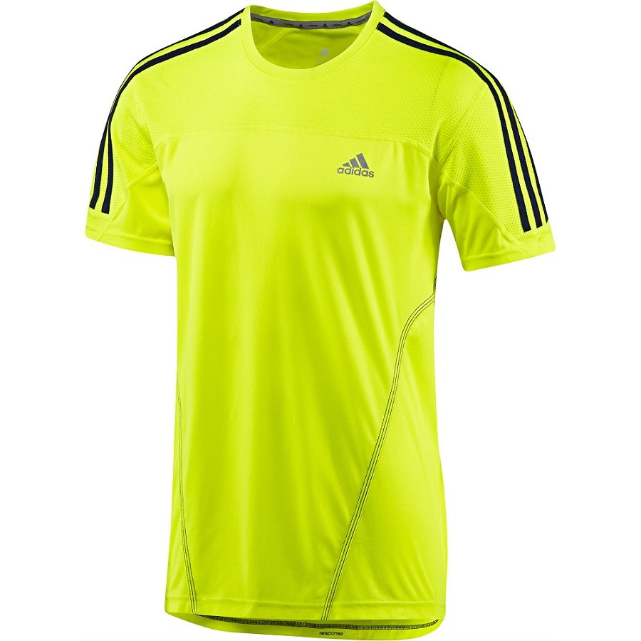 adidas response 3 stripes tee kurzarm shirt laufshirt. Black Bedroom Furniture Sets. Home Design Ideas