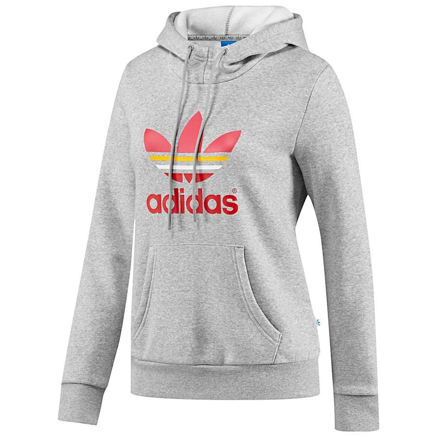 adidas originals trefoil logo hoodie kapuzenpullover fitness damen. Black Bedroom Furniture Sets. Home Design Ideas