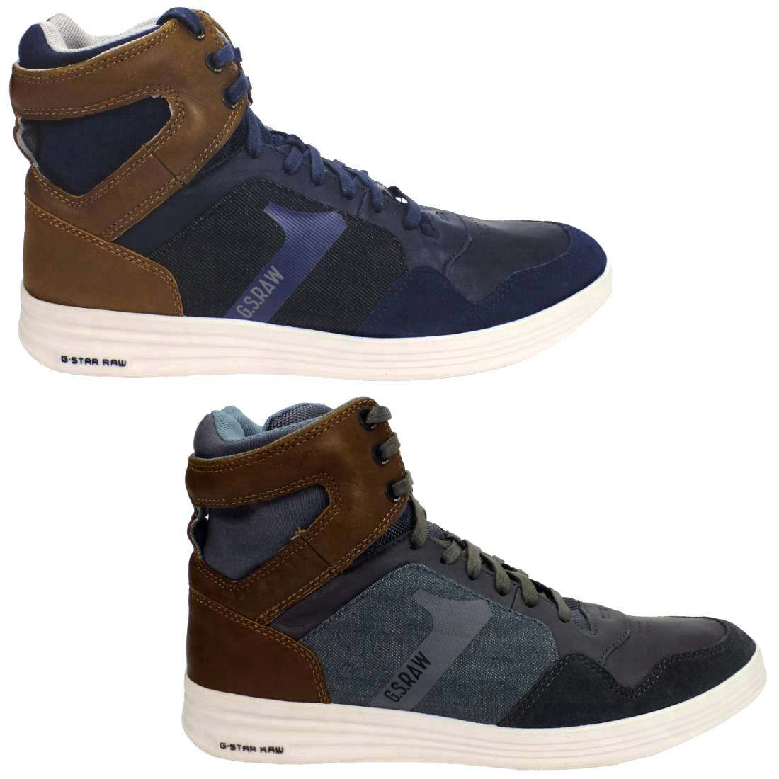 g star futura outland schuhe high top sneaker herren blau. Black Bedroom Furniture Sets. Home Design Ideas