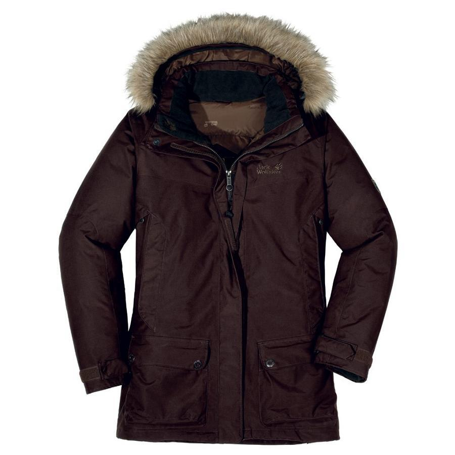 jack wolfskin anchorage parka jacke winterjacke daunenjacke outdoor damen braun ebay. Black Bedroom Furniture Sets. Home Design Ideas