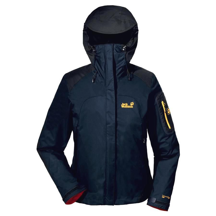 jack wolfskin cascade mountain 3 in 1 jacke winterjacke skijacke damen blau ebay. Black Bedroom Furniture Sets. Home Design Ideas