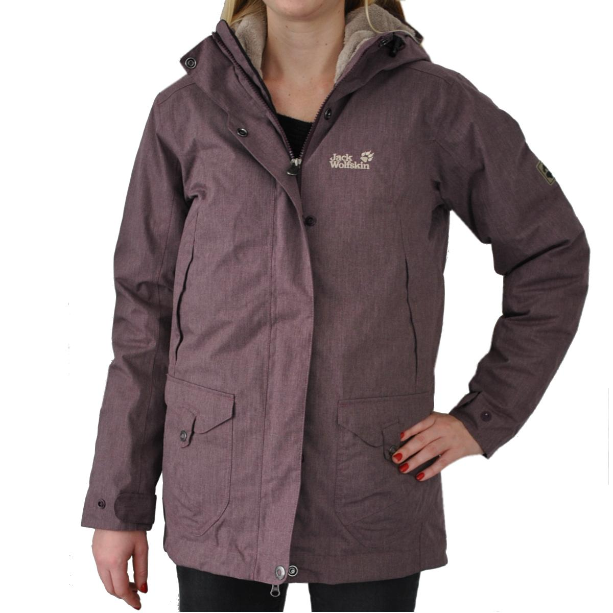 jack wolfskin wave hill down parka jacke winterjacke daunenjacke damen lila ebay. Black Bedroom Furniture Sets. Home Design Ideas
