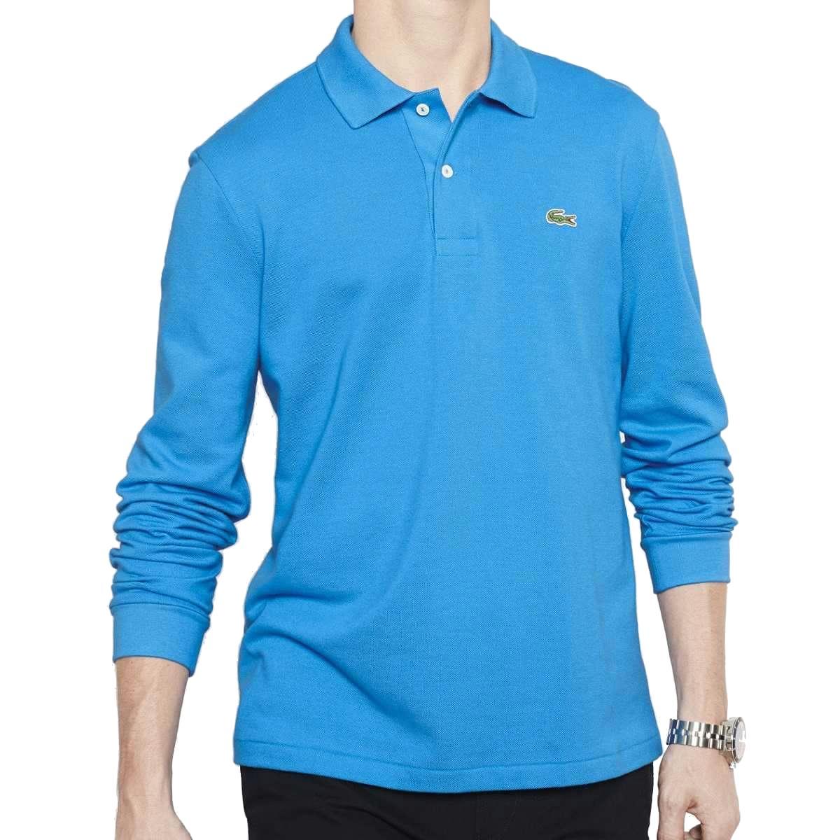 Original lacoste polo l1312 long sleeve men 39 s polo for Lacoste polo shirts ebay