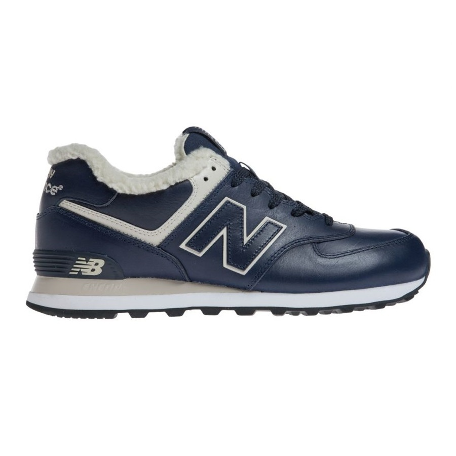 new balance winter ml 574 schuhe sneaker gef ttert leder herren schwarz blau ebay. Black Bedroom Furniture Sets. Home Design Ideas