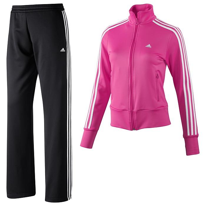 adidas Damen Trainingsanzug Ess 3S Knit