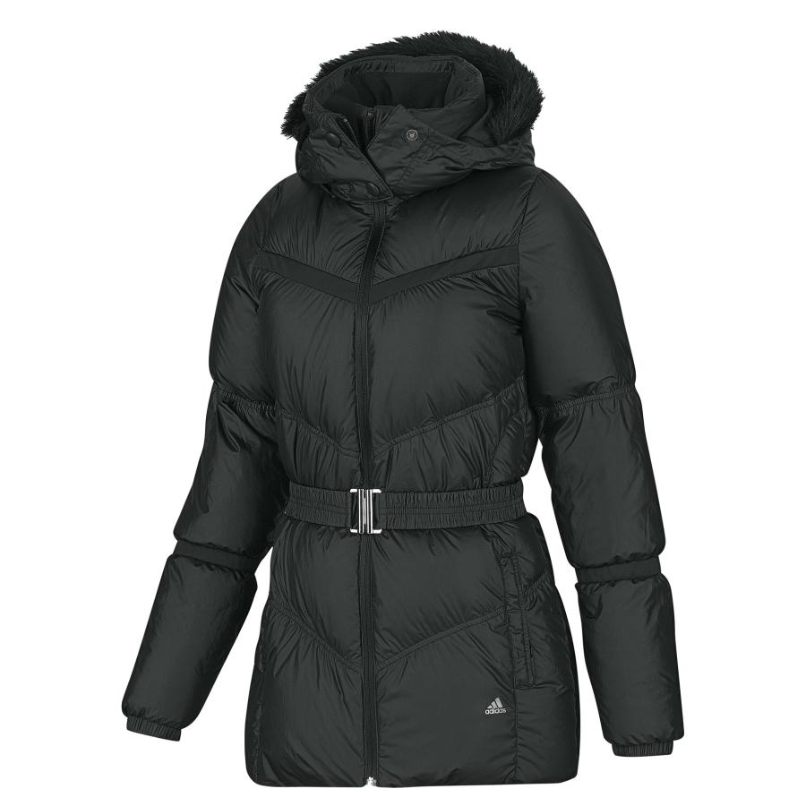 adidas light down long jacket damen jacke daunenjacke. Black Bedroom Furniture Sets. Home Design Ideas