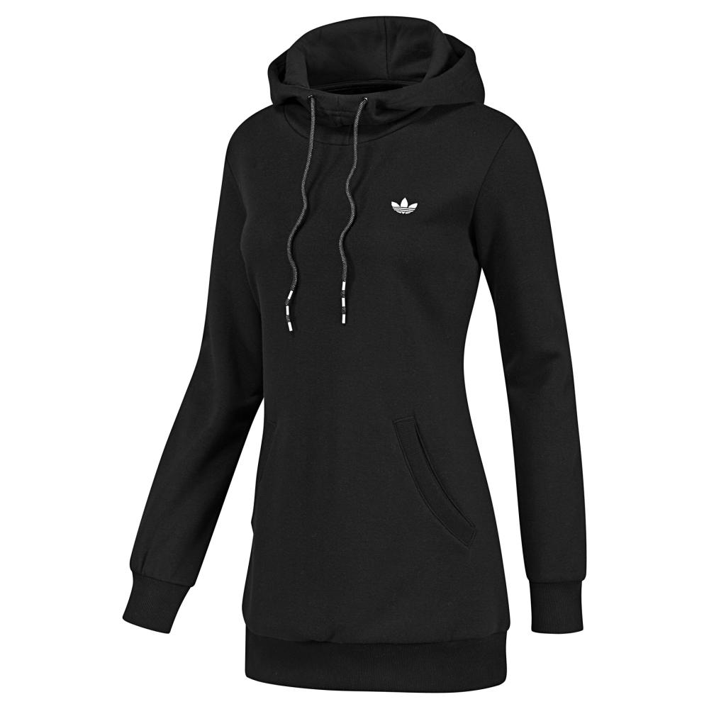 adidas casual long hoodie damen sweatshirt lang schwarz ebay. Black Bedroom Furniture Sets. Home Design Ideas