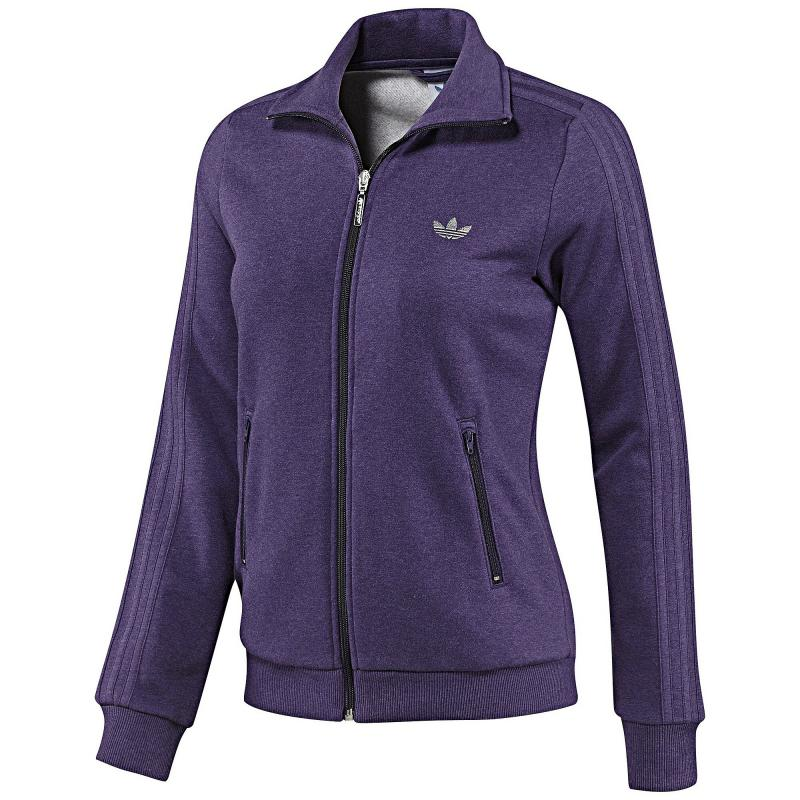 adidas casual firebird tt w aubergine 34 damen jacke baumwolle. Black Bedroom Furniture Sets. Home Design Ideas