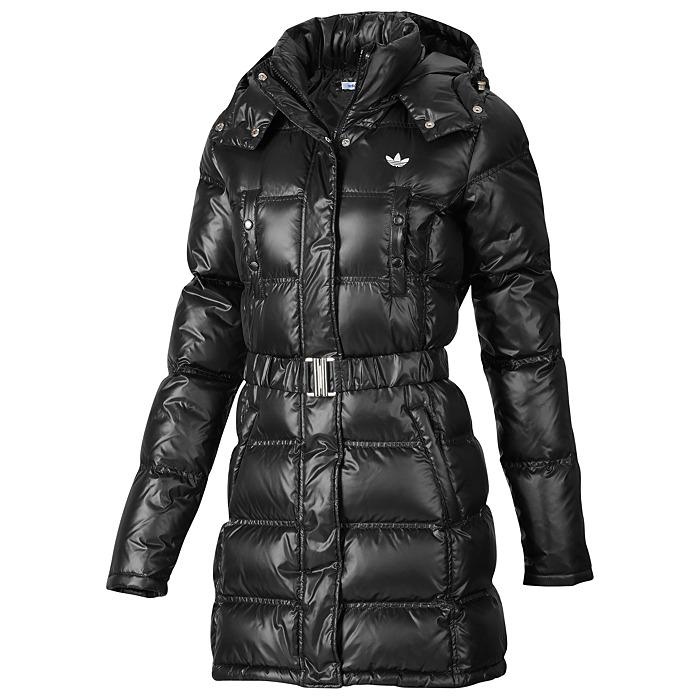 adidas long slim down jacket damen daunenmantel. Black Bedroom Furniture Sets. Home Design Ideas